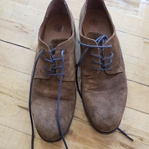 Frye suede derby shoes